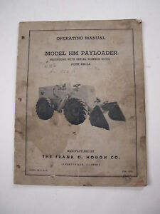 Ih International Hough Hm Front end Wheel Pay Loader Tractor Operator s Manual