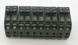 Eaton Chq230 30amp 2pole 240v Classified Circuit Breaker 5 Lot