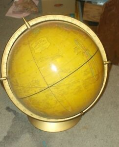 Crams Imperial 12 Inch Double Axis Pivotting Globe And Stand Earth Map