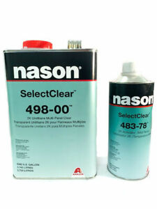 Nason Selectclear 498 00 2k Urethane Multi panel Clear Coat Kit With Activator