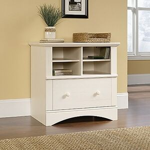 Sauder 158002 Harbor View Lateral File Antiqued White Finish New