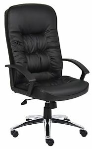 Boss High Back Leatherplus Chair W Knee Tilt 27 W X 28 5 D X 45 5 49 H B7302
