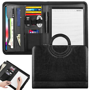Moko Professional Handle Business Organizer Zippered Padfolio Portfolio Folder