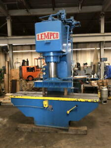 150 ton Lemco Hydraulic Sraightening Press 20 Stroke 96 X 21 Bed 31 Open