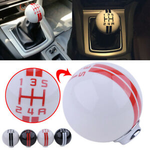 White 5 Speed Car Stick Gear Shift Knob Lever Shifter For Ford Mustang Gt500