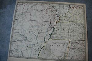 1833 Map Of United States Mississippi Valley Old West Region Sduk