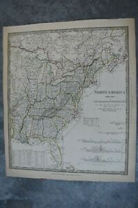 1834 Sduk North America Index Map To Canada And The United States