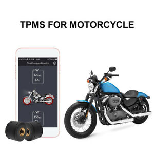 Motorcycle Bluetooth4 0 Tpms Tire Pressure Monitoring Dual Tyre Sensor Ma1574