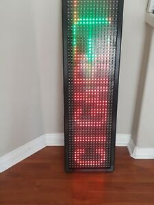 Led Programmable Advertisement sign With No Remote Control