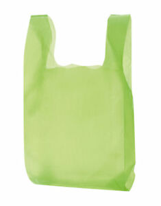 Plastic Bags 1000 Lime Green Shopping Grocery Retail Grocery T shirt 11 X 6 X 21