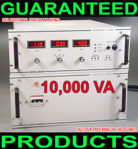 Behlman Bl10000c 1 l r 10kw Variable Frequency 50 400 Hz 3 Phase Ac Power Supply