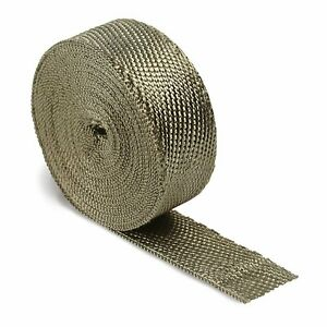 Titanium Exhaust Header Pipe Heat Wrap 2 X 50 Roll 2500 f Dei 010127