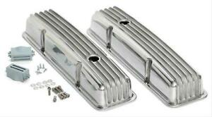 Trans Dapt Finned Aluminum Valve Covers 6603 Chevy Sbc 283 305 350 400 Polished