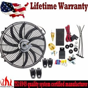16 Inch Electric Radiator Condenser Fan 3 8 Npt Probe Thermostat Switch Kits