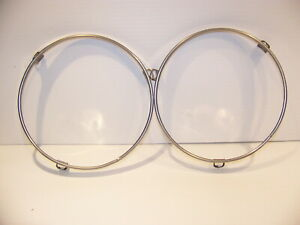1965 Plymouth Belvedere Satellite Headlight Retaining Rings Oem Pair