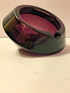 Art Deco Amethyst Glass Ashtray