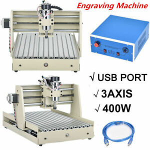 3axis 3040 Cnc Router Usb Engraver 400w Carving Drill Cutter Woodworking Machine