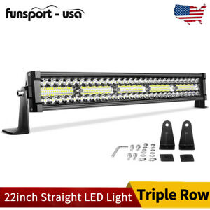 22 Inch 450w Led Light Bar Spot Flood Combo Offroad 4wd Truck Atv Suv Rectangle