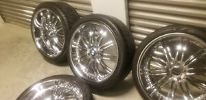 22 Inch Bmw Chrome Rims And Tires