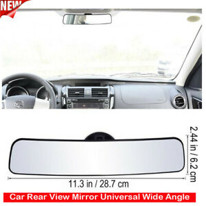 Mirror Panoramic Rear View With Suction 11 3 Inches Wide Angle For Car Truck Us