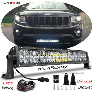 22 120w Led Work Light Bar Drl Beam Offroad For 2011 18 Jeep Grand Cherokee Wk2