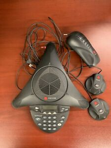 Polycom Soundstation 2 Conference Phone With 2 Extension Microphones