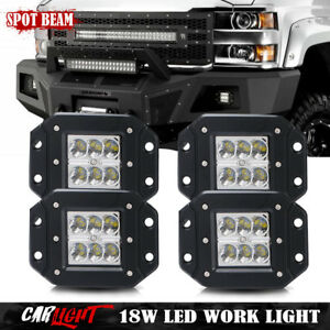 4x Flush Mount Rear Led Tail Front Fog Lights Bumper For Toyota Tundra 4runner
