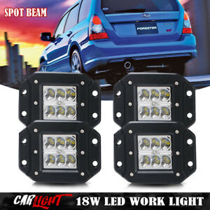 For Subaru Forester 4x Flush Mount Rear Led Tail Front Fog Lights Bumper