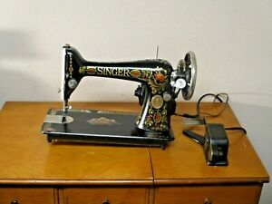 Antique 1921 Singer Model 66 Red Eye Sewing Machine