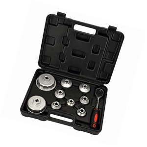 Mofeez Oil Filter Cap Wrench Metric 10 piece Socket Set Tool Kit 24mm To 65mm Fo