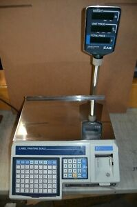 Cas Lp 1000 Label Printing Scale With Pole Display Label Printer