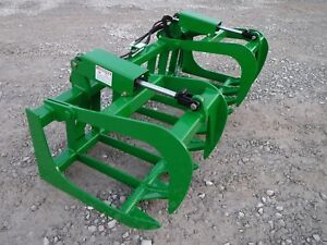John Deere Tractor Loader 72 Dual Cylinder Root Grapple Bucket 179 Ship