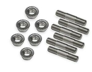 Weiand Blower Studs Stainless Natural Hex Nuts Chevy Big Block Set