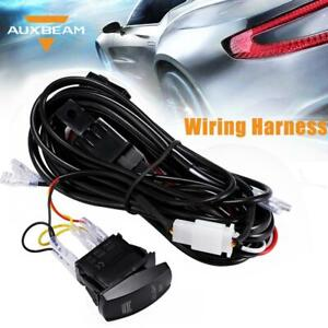 Auxbeam Wiring Harness Kit 20a Led Work Light Bar On Off Rocker Switch Relay
