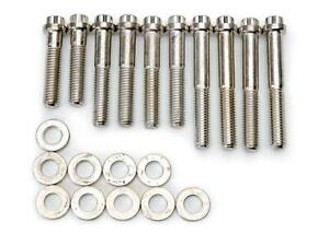 Edelbrock Intake Manifold Bolts Steel 12point Washers For Edl7105 Ford Fe Bb 390