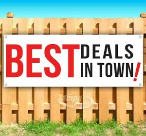Best Deals In Town Advertising Vinyl Banner Flag Sign Many Sizes Usa Sale