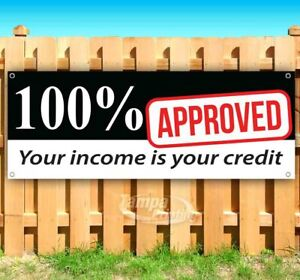 100 Approved Your Credit Advertising Vinyl Banner Flag Sign Many Sizes Usa Sale