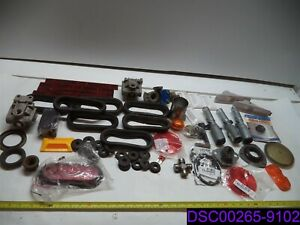 Qty 63 Mixed Lot Of Truck Parts Plugs Reflectors Lights And More