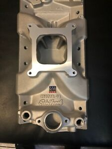 Edelbrock 2975 Aluminum Victor Jr Intake Manifold Sbc Small Block Chevy Single