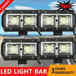 4x 5 Inch Led Work Driving Light Bar Flood Pods Fit Offroad Tractor Suv Atv 36w