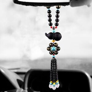 Car Pendant Obsidian Auspicious Gourd Car Interior Decoration Mirror Hanging