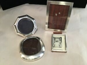 Collection Of 4 Sterling Silver Antique Picture Frames Must See No Reserve Wow