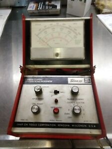 Vintage Snap On Mt460 Expanded Scale Tach Dwell Meter With Cylinder Shorting