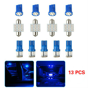13pcs Car Interior Led Lights For Dome License Plate Lamp 12v Kit Accessories