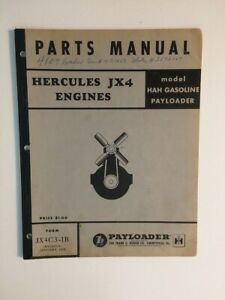Ih Hough Hah Front End Wheel Loader Tractor Hercules Jx4 Engine Parts Manual