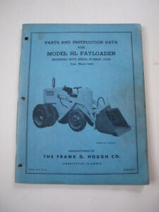 Ih Hough Hl Front end Wheel Pay Loader Tractor Operator s Manual
