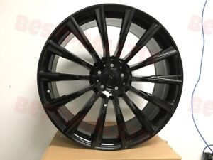 19 Staggered Mercedes Gloss Black S65 Amg Style Rims Wheels For S Class W221