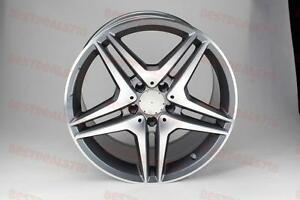 19 Mercedes Benz Amg Style Rims Wheels Gunmetal W204 Staggered 45 Offset