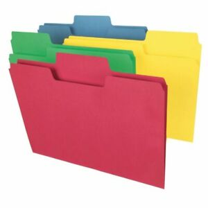Smead Supertab File Folders Legal Size Assorted Colors Box Of 100