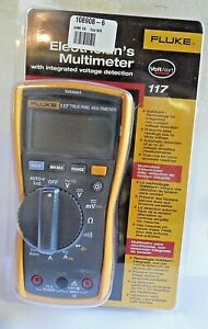 Ln Fluke 117 Voltalert True Rms Digital Meter Test Leads Manual Packaging